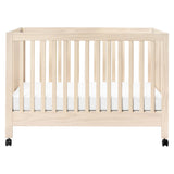 maki folding crib portable babyletto natural wood wash