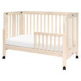 Maki Full-Size Portable Folding Crib with Toddler Bed Conversion Kit