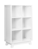 Hudson cubby bookcase white