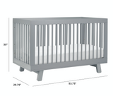 Hudson crib babyletto grey dimensions