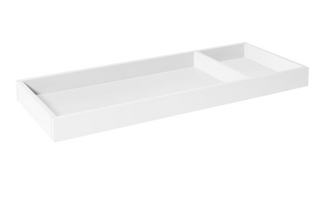 Universal wider changing tray white