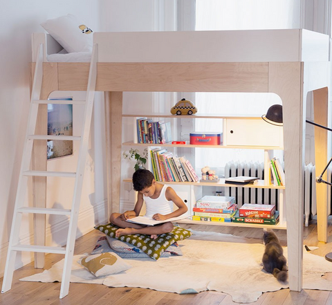 Oeuf perch loft bed in full size zac and zoe for Amenager petite chambre 7m2