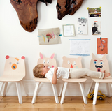 bear and rabbit chairs in birch