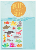 Protect our Seas 18x24 print + 20 reusable stickers