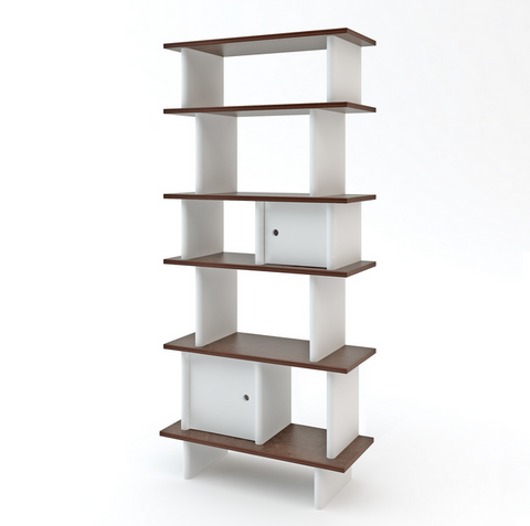 OEUF VERTICAL MINI LIBRARY walnut