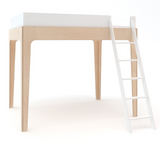 perch twin size loft bed in birch