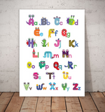 monster alphabet poster ABC