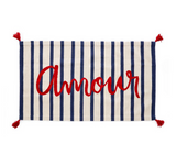 Amour RUg Oeuf  Love rug striped french