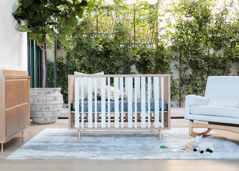 nurseryworks novella crib stained ash and ivory gorgeous elegant modern crib