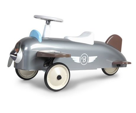 silver retro classic ride on toy for toddlers