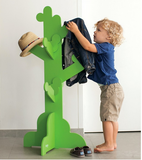 green clothes tree storage kids backpage modern and fun
