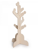 natural wood color clothes tree kids