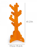 orange kids clothes tree