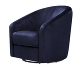 BABYLETTO MADISON SWIVEL GLIDER CHAIR IN navy BLUE microsuede