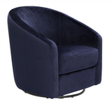 BLUE MICROSUEDE CHAIR FOR YOUR NURSERY OR LIVINGROOM