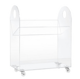 roll away bookcase lucite clear acrylic stylish