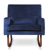 nursery works sleepy time rocker in navy velvet