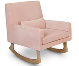 nursery works sleepy time rocker in blush velvet