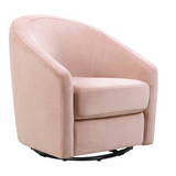 BABYLETTO MADISON PINK VELVET GLIDER