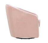 SIDE VIEW PINK VELVET BABYLETTO MADISION GLIDER