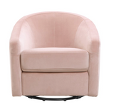 PINK VELVET BABY NURSERY CHAIR