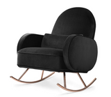 nurseryworks compass rocker in black velvet rose gold