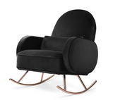 nurseryworks compass rocker in black velvet