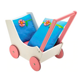 wooden doll stroller walker