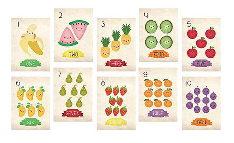 fruit themed wall cards
