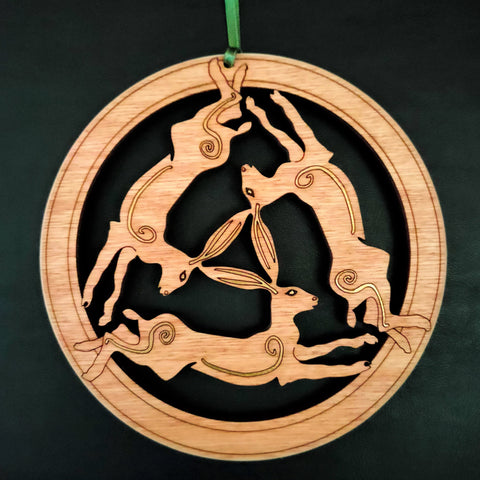 Wooden Hanging of 3-Hares