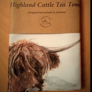 Highland Cattle Tea Towel
