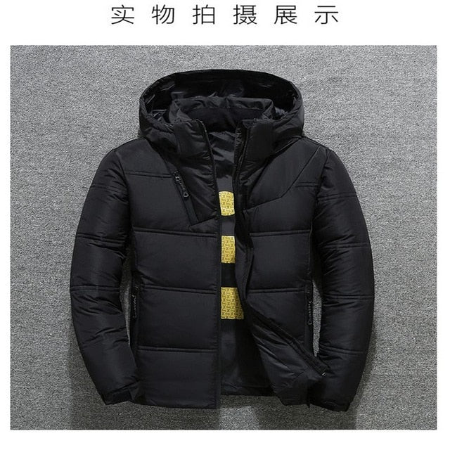2019 Winter Jacket Mens Quality Thermal Thick Coat Snow Red Black