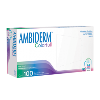 GUANTES AMBIDERM PLUS COLOR