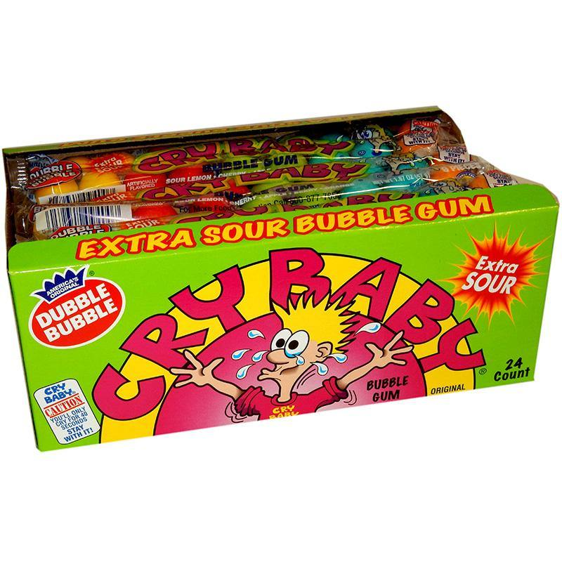 Cry Baby Extra Sour Bubble Gumballs