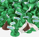 Hershey Kisses in all green foil