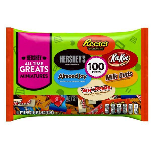 Hershey All Time Greats Miniatures - 100 ct Bag