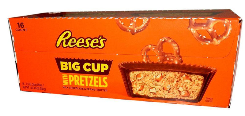 reese's big cup with pretzels 16ct