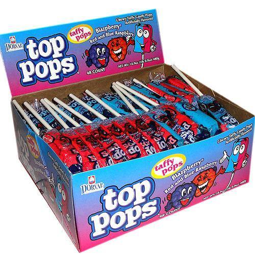 blazpberry top pops lollipops