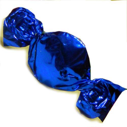 blue foil wrapped hard candy