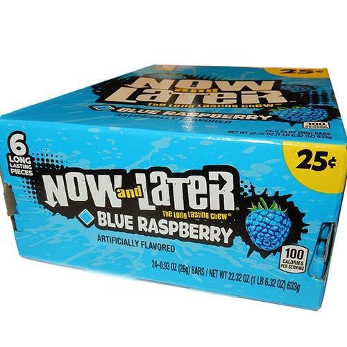 Blue Raspberry Now & Later candy