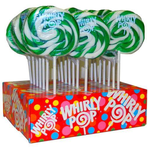 bright green whirly pops