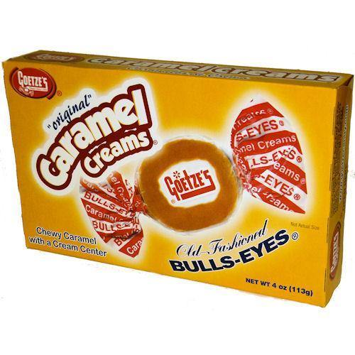 bullseye caramel creams theater candy