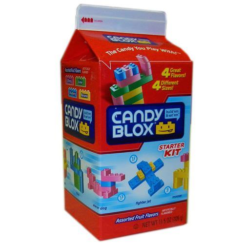 candy blocks like legos cartons