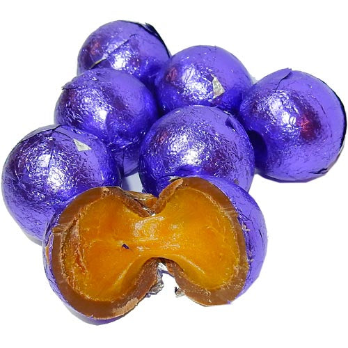Purple Foil Wrapped Caramel Filled Chocolate Balls