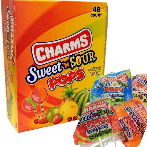 Charms Sweet n Sour Pops