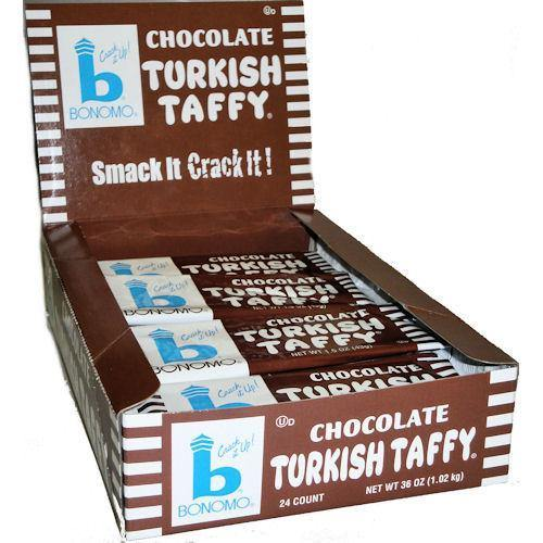 chocolate bonomo Turkish Taffy 24 bars