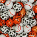 chocolate foil covered sports balls