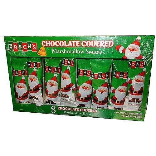 Brachs Chocolate Covered Marshmallow Santas