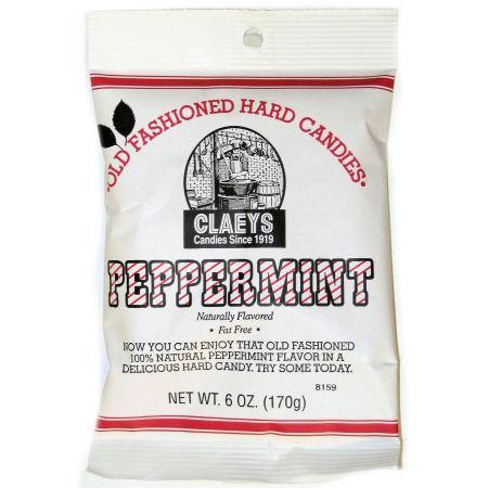 claeys brand peppermint flavored oldtime hard candy