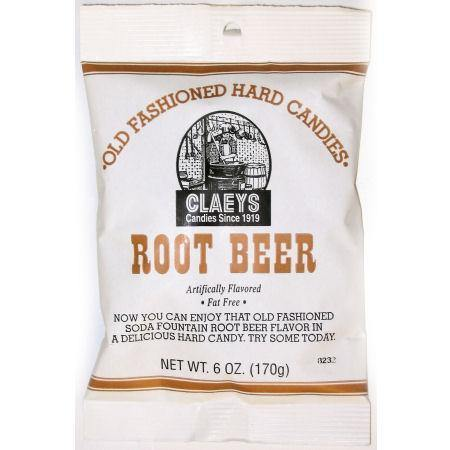claeys brand rootbeer flavored oldtime hard candy